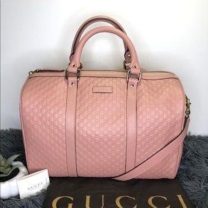 GUCCI Satchel Guccissima Boston Pink